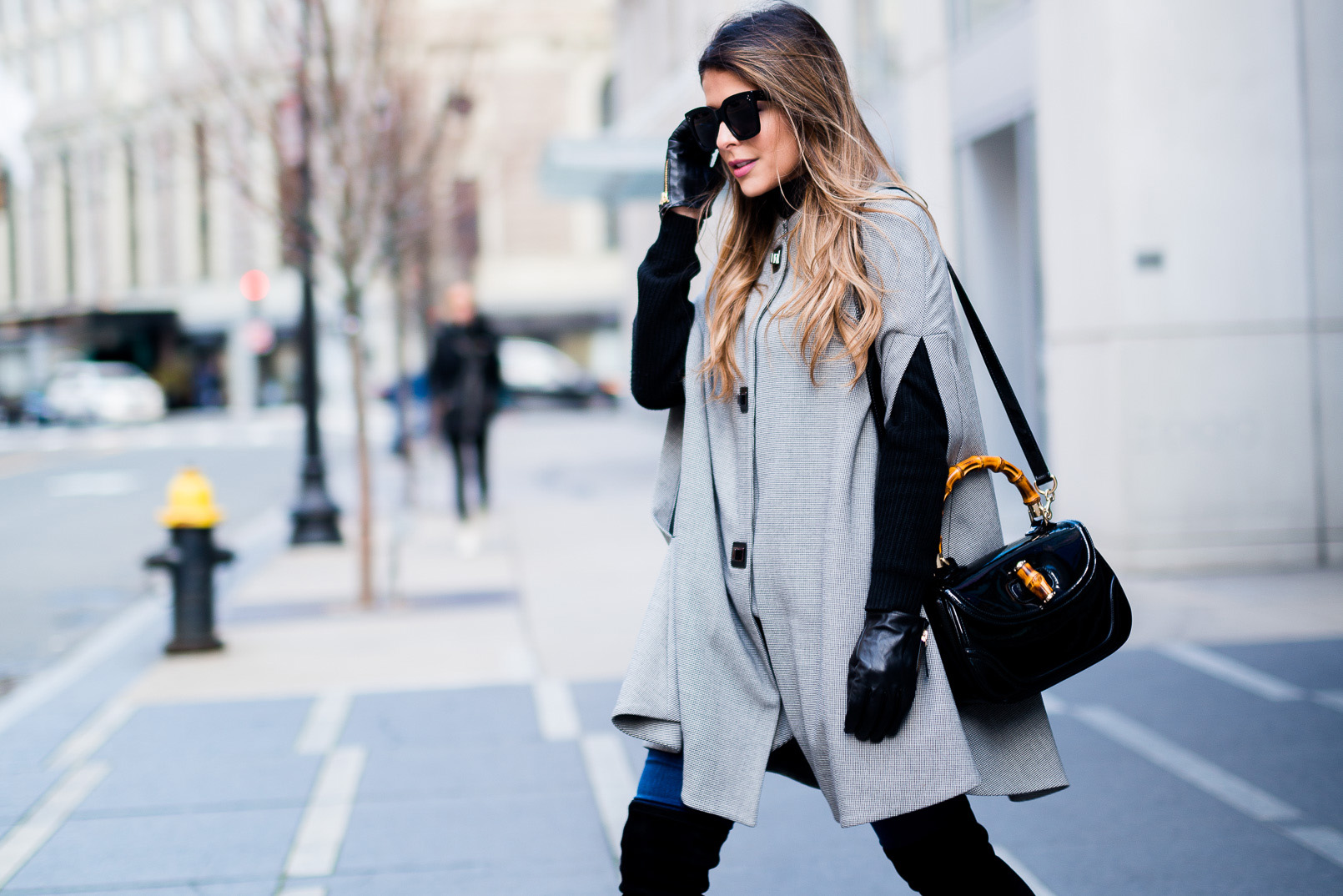 Mango-houndstooth-pattern-cape-Skinny-jeans-Delman-over-the-knee-boots-Gucci-Bamboo-Top-Handle-Bag-Celine-Sunglasses-1-copy.jpg