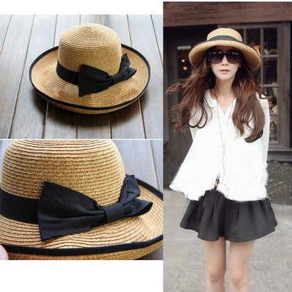 Straw-Hat-Fashion-Khaki-Women-Cap-Beach-Hats-Top-Quality-Black-Bowknot-Ribbon-Roll-up-Trim.jpg